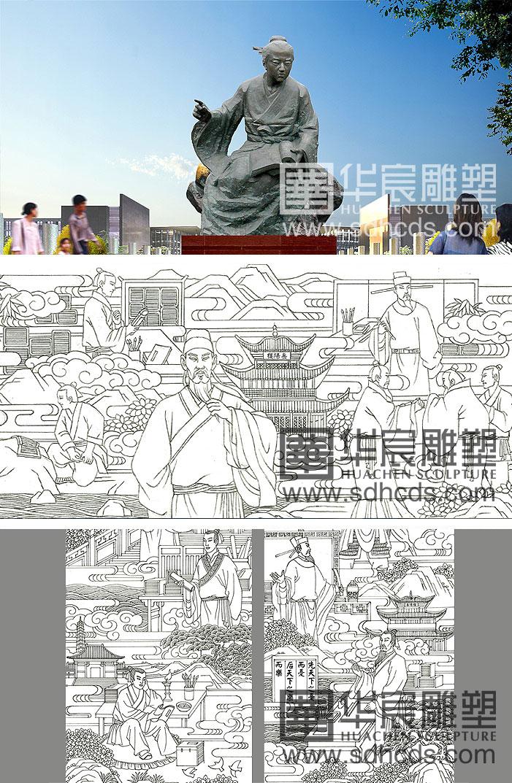 校园文化雕塑设计_雕塑设计_山东华宸景观雕塑有限公司